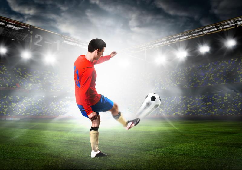 サッカーロングパス